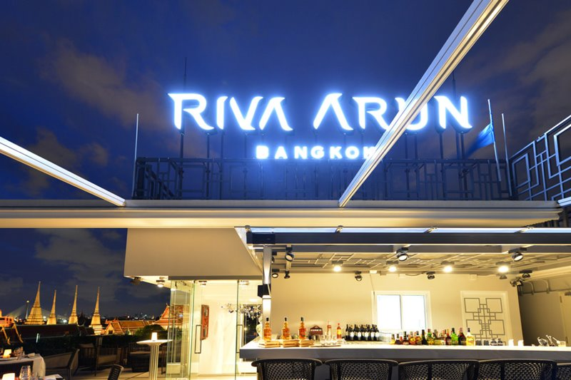 AboveRiva bar night - 最佳位置!Riva Arun 酒店将曼谷景色尽收眼底
