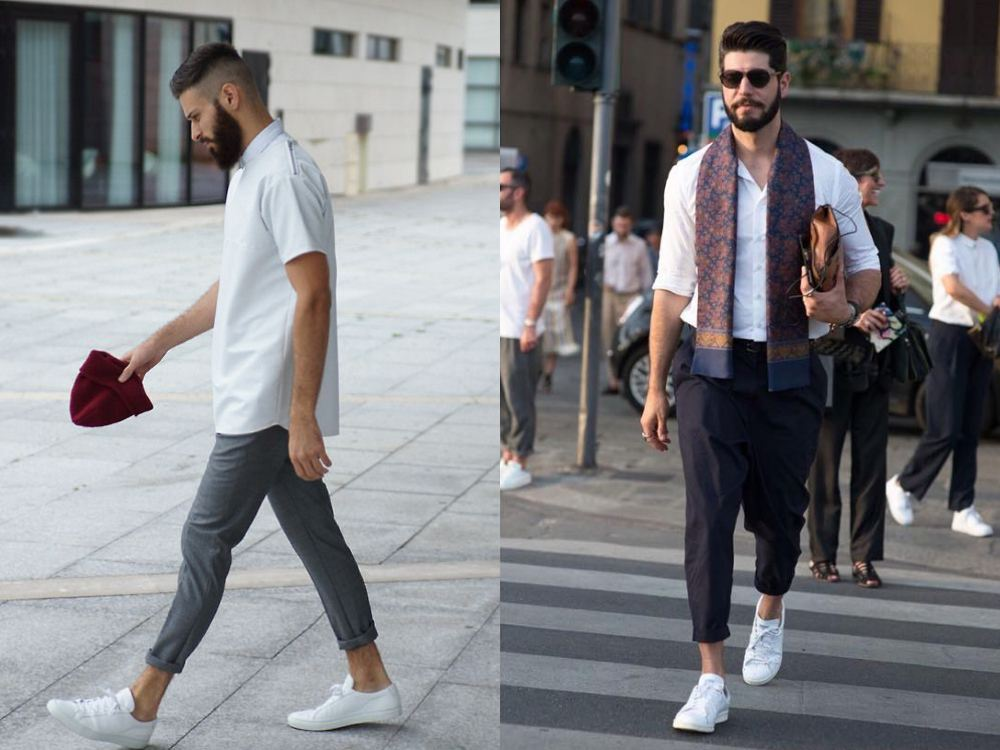Outfit For Men With White Shoes