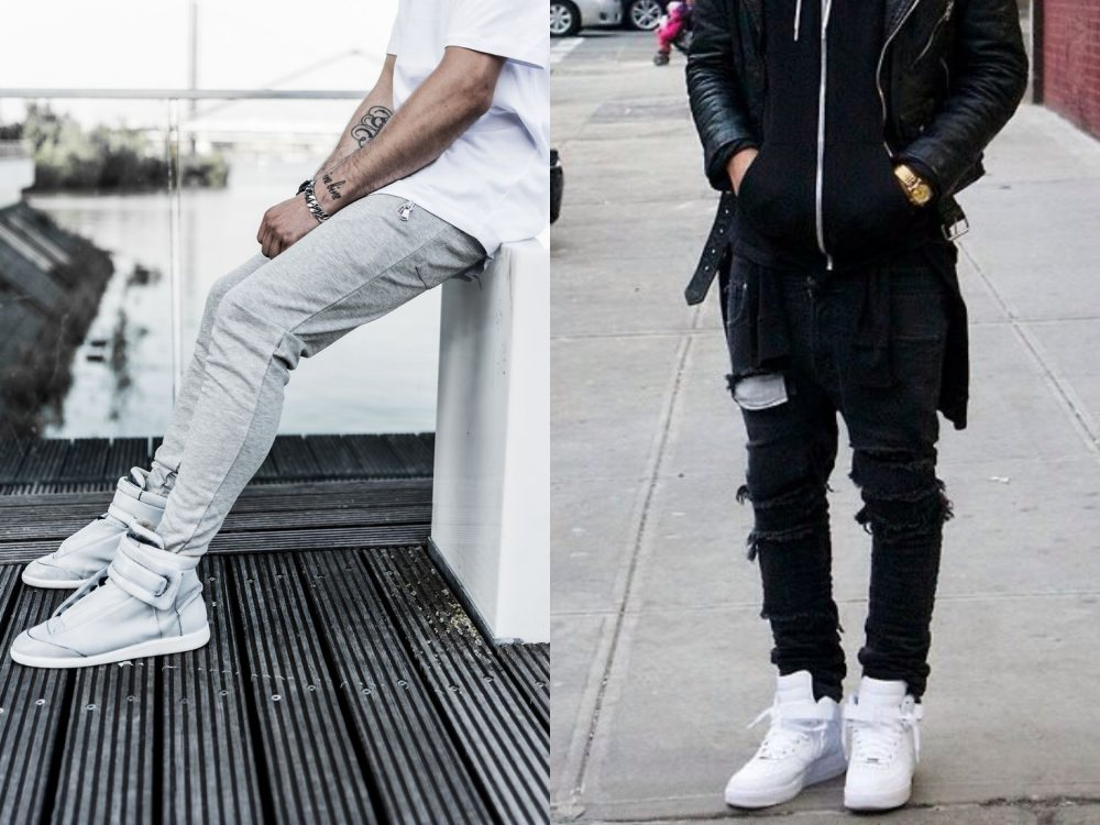 men style white sneaker ankle 2 - To Create A Fashion Style, You Just Need A Pair Of White Shoes!