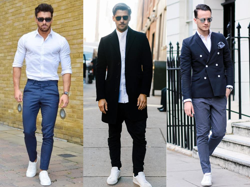 men style white sneaker simple 3 - To Create A Fashion Style, You Just Need A Pair Of White Shoes!