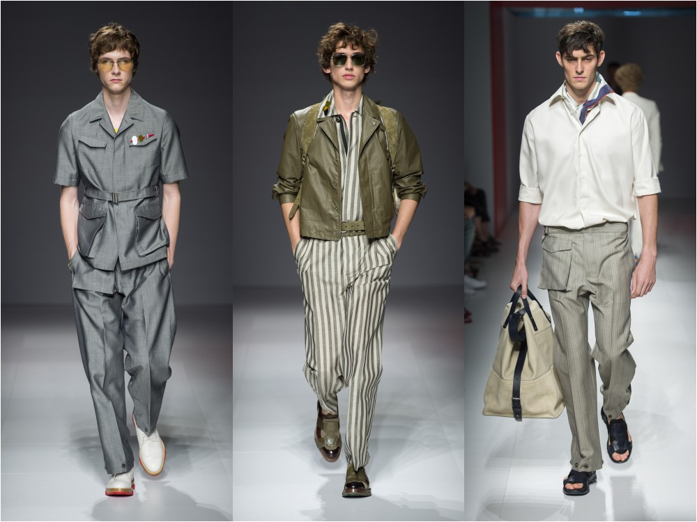 salvatore ferragamo mens spring summer 2017 grey suits - Salvatore Ferragamo 春夏'17男士系列 向往自由冒险的都会男子