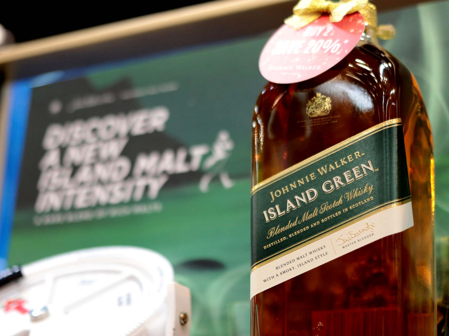 Johnnie Walker Island Green BIG - Johnnie Walker Island Green 苏格兰混合麦芽威士忌飘香至大马