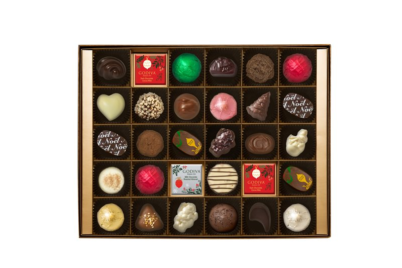 Christmas Gift Box 30pcs. open box - 在巧克力的国度中,度过美妙圣诞佳节