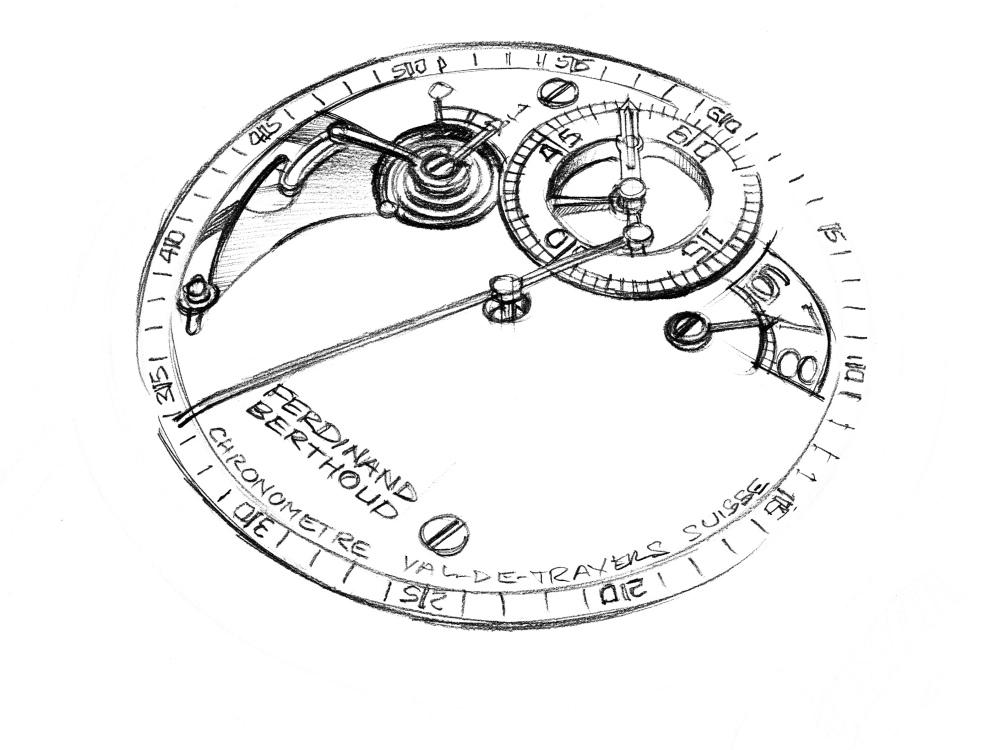 Chronomatre Ferdinand Berthoud FB 1R 6 1 Drawings 1 - 从这枚腕表认识Ferdinand Berthoud!