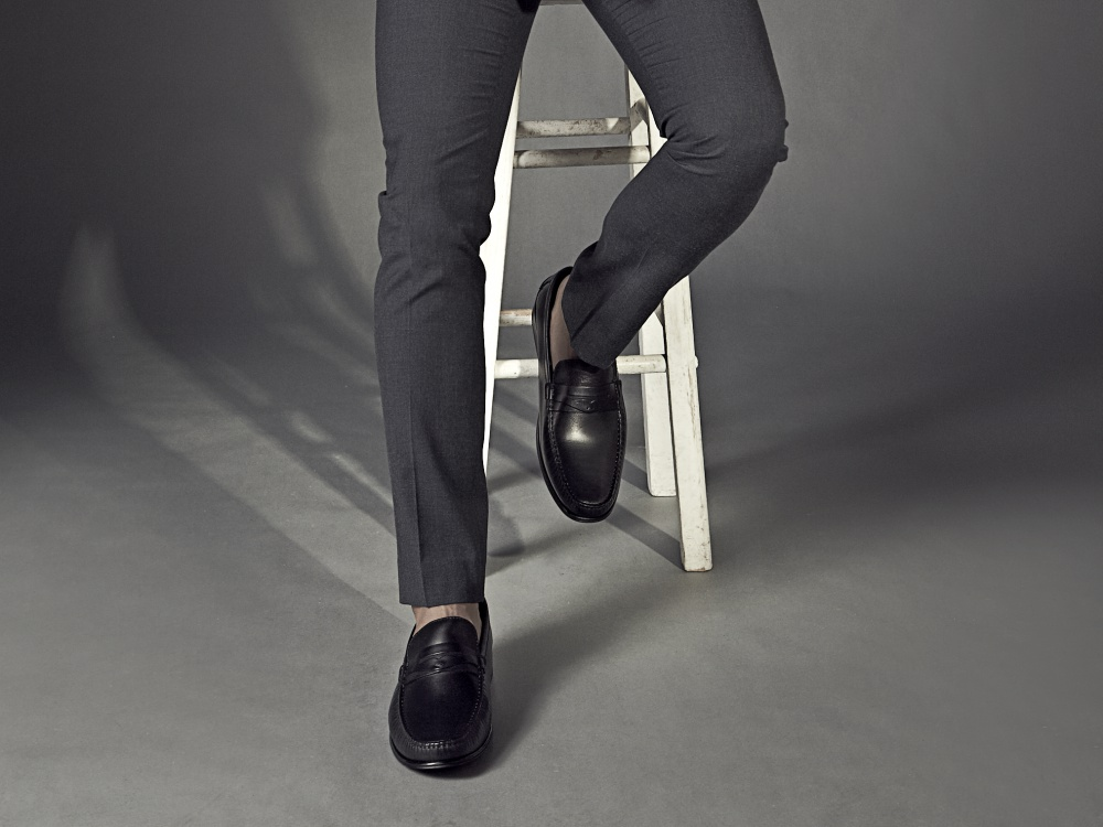 kingssleeve bonia fiqrie urban style black loafers - BONIA 时代型男的都会风尚!