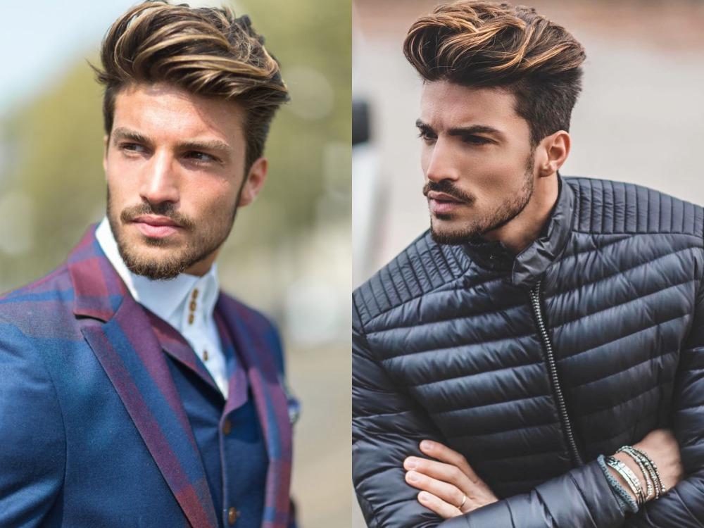 men hairstyle brown color 5 - 经典棕系发色,气质与流行不退!