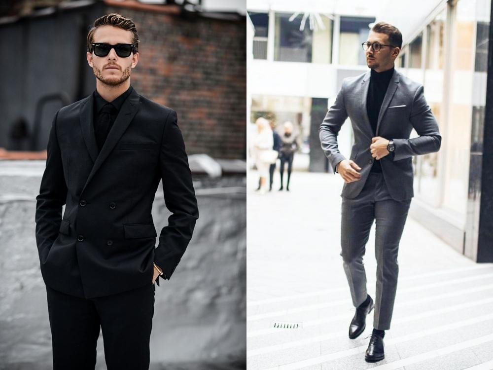 men suit fashion style 3 - 黑色西装之外,你也能轻松驾驭的简雅素色!