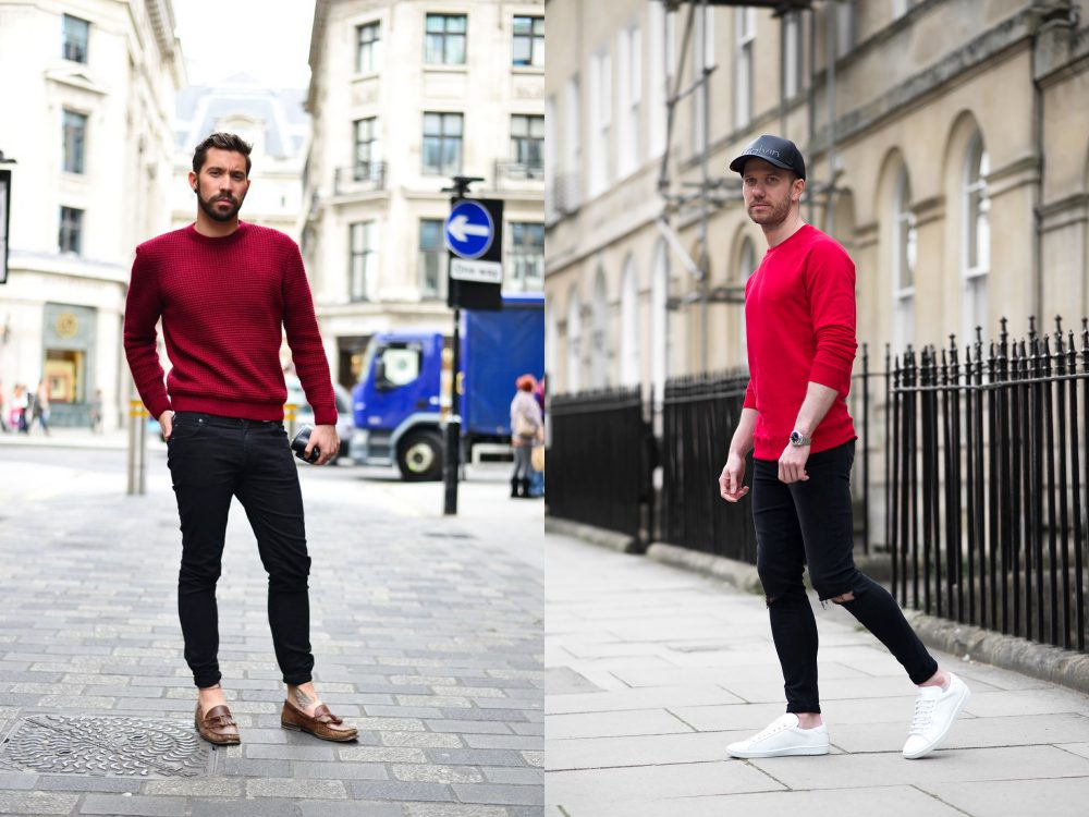 new year new look men style red colour 12 - 新年新装一点红,足够瞩目!