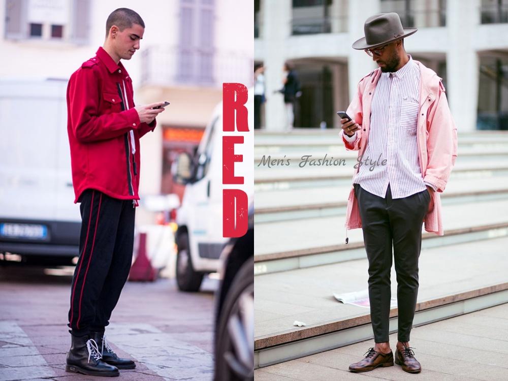 new year new look men style red colour BIG  - 新年新装一点红,足够瞩目!