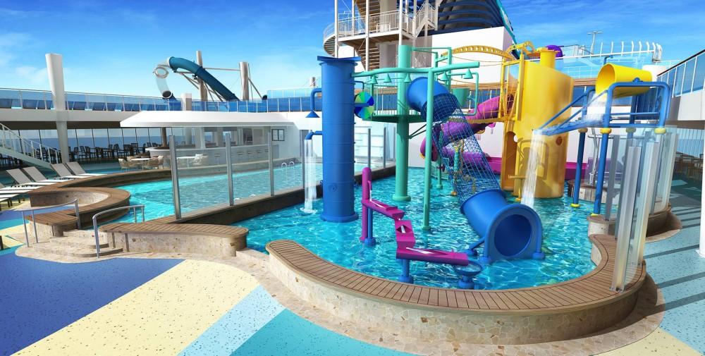 norwegian bliss cruise aquapark kids  - Norwegian Bliss 航行的豪华游乐园!