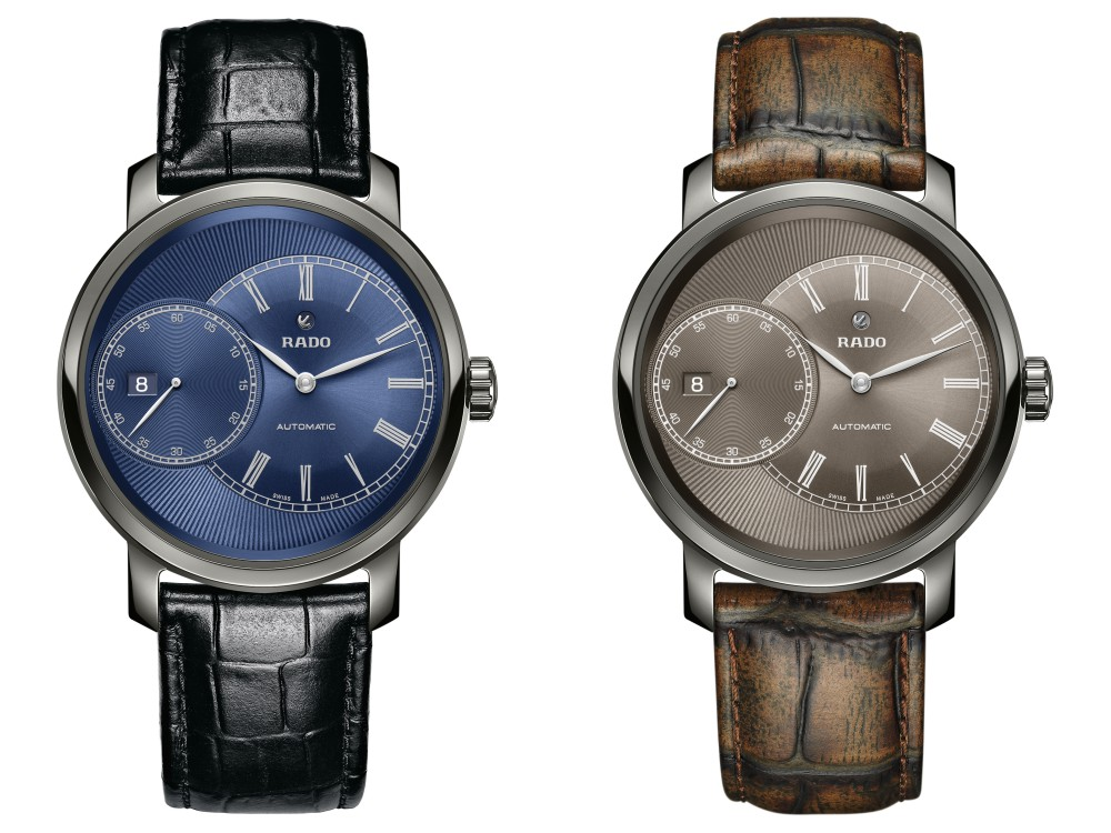 rado diamaster grand seconde blue and brown  - RADO DiaMaster 儒雅潇洒的绅士之表