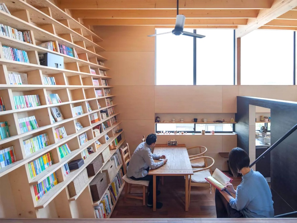 shinsuke fujii bookshelf interior home design idea BIG  - 建筑师Shinsuke Fujii打造如图书馆的小房子!