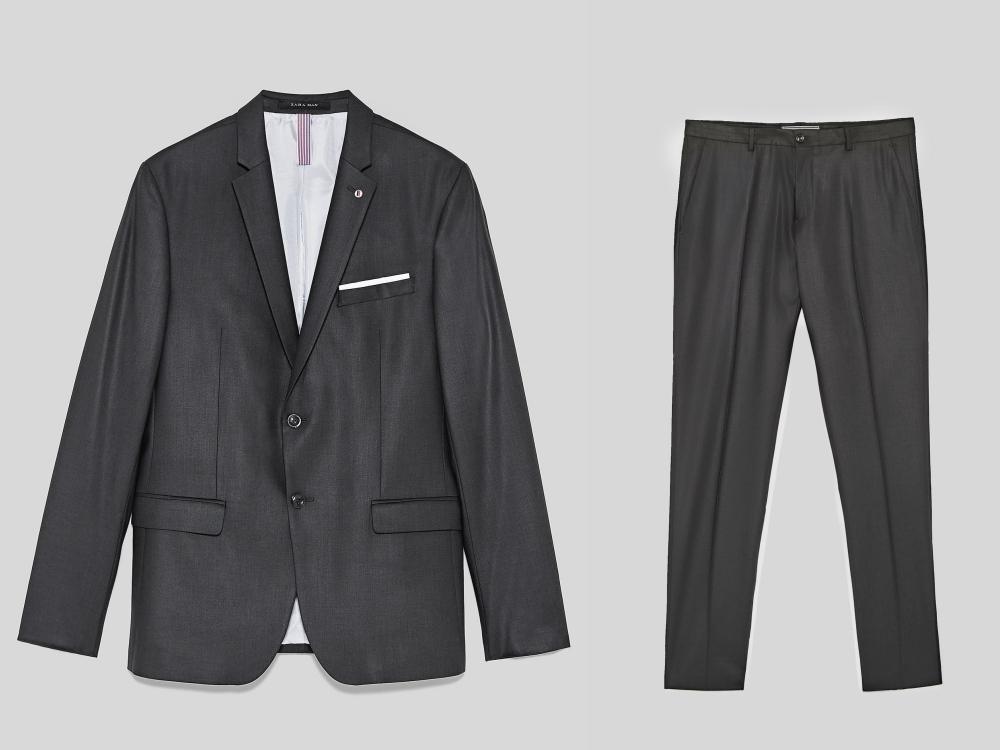 zara fashion suit men style 1 - 黑色西装之外,你也能轻松驾驭的简雅素色!