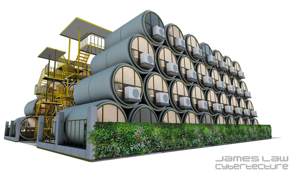 Hong Kong OPod Tube Housing by James Law 5 - 香港OPod水管屋,精巧创新的实际住宿模式!