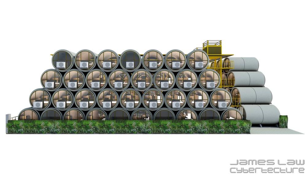 Hong Kong OPod Tube Housing by James Law 7 - 香港OPod水管屋,精巧创新的实际住宿模式!