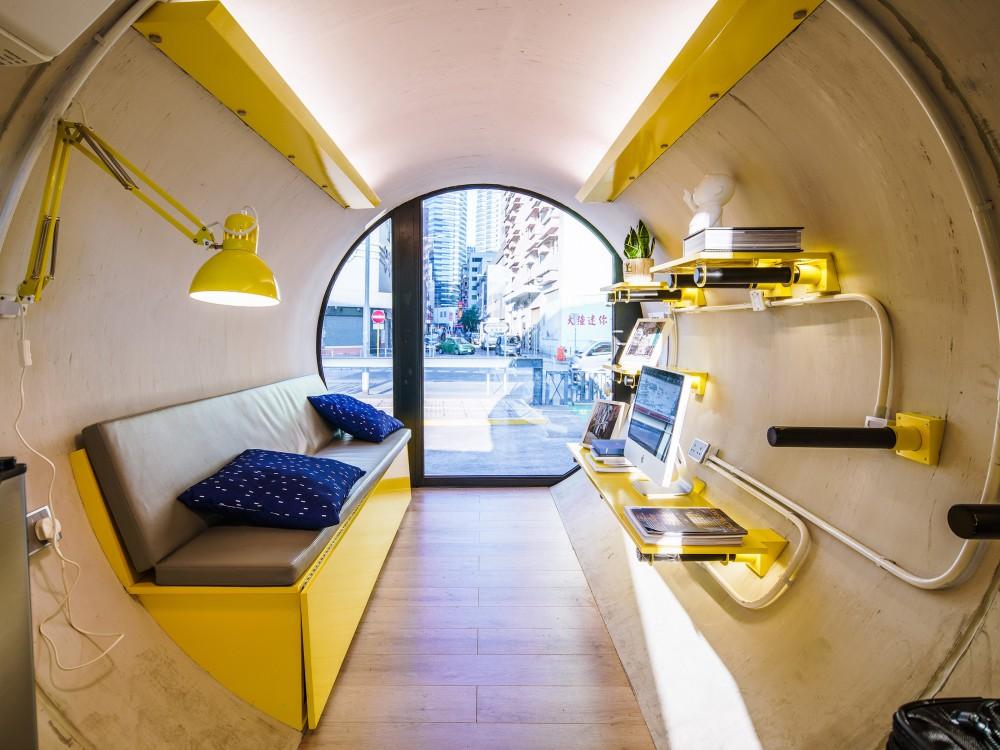 Hong Kong OPod Tube Housing by James Law 8 - 香港OPod水管屋,精巧创新的实际住宿模式!
