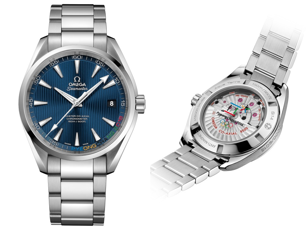 Omega and Pyeong Chang Olympic Winter Games 2018 seamaster aqua terra - Omega 再为冬奥会纪录历史性时刻!