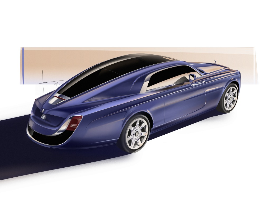 Rolls Royce the year of bespoke Sweptail Sketch - Rolls-Royce 顶尖完美诠释客制化豪车!