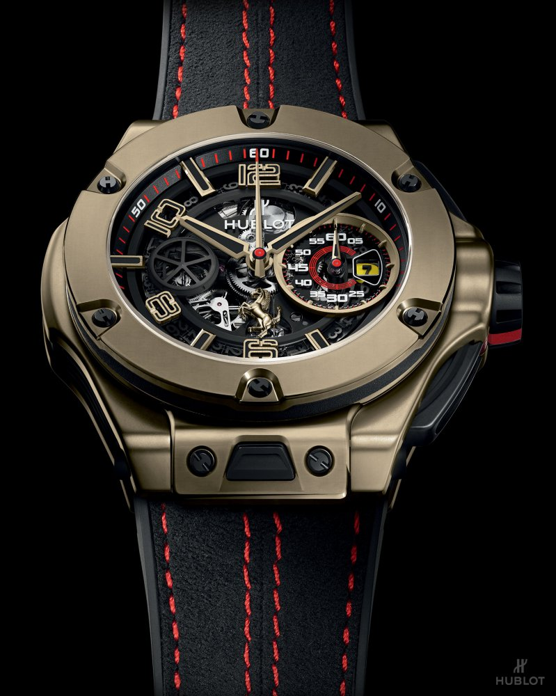 hublot big bang ferrari magic gold watch 4 - Hublot Big Bang Ferrari Magic Gold 金姿酷势!