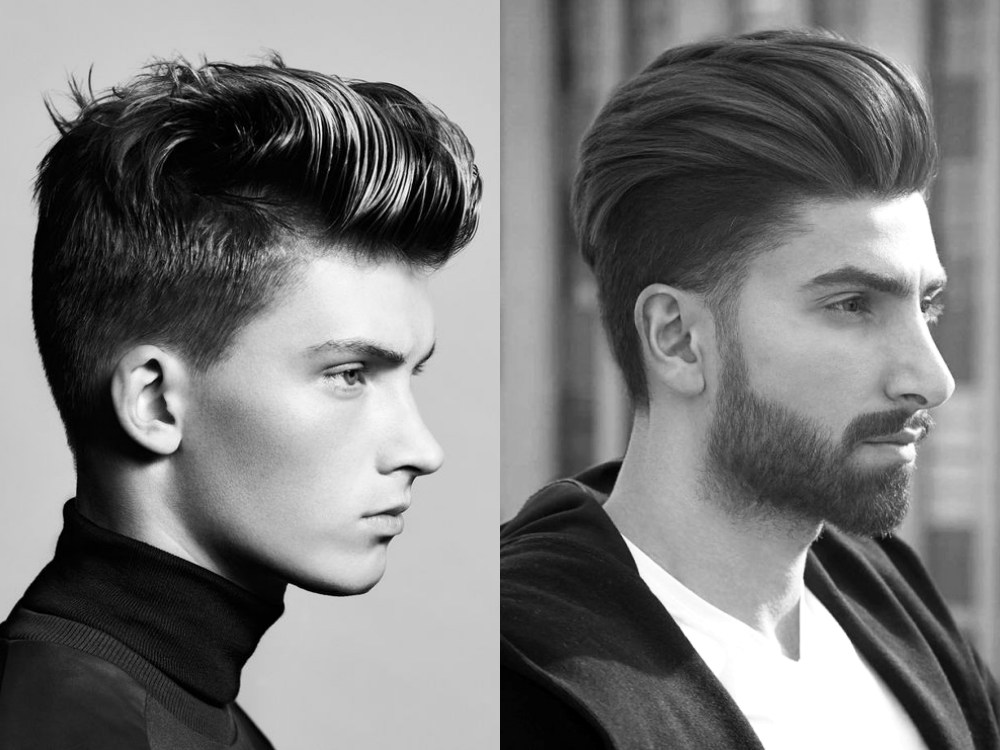 men fashion hairstyle pompadour 4 - 经典而时尚,梳好Pompadour油头发型!