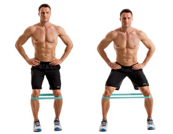 men fitness lose weight plan lateral band walk  - 塑身甩脂,重拾健壮线条!