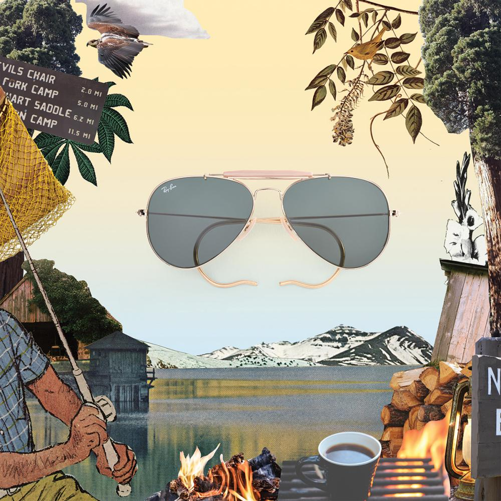 ray ban Icon Reinvented sunglasses 2018 Aviator Outdoorsman  - 墨镜狂想记,环游世界去!