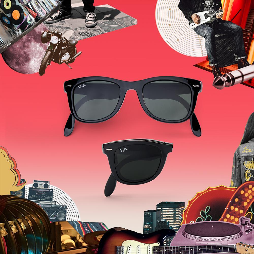 ray ban Icon Reinvented sunglasses 2018 Wayfarer Foldable  - 墨镜狂想记,环游世界去!