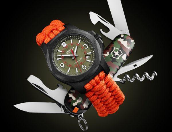 victorinox inox carbon limited edition orange strap watch BIG 600x460 - I.N.O.X Carbon 加倍轻盈有耐力!