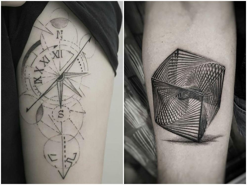 2018 tattoo idea geometirc 3 - [Tattoo Idea] 7类纹身艺术,刻画出你的风格个性