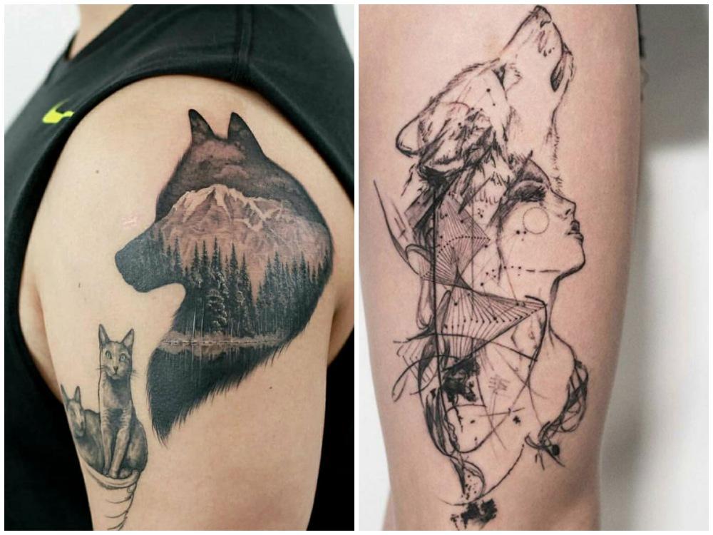 2018 tattoo idea overlap 2 - [Tattoo Idea] 7类纹身艺术,刻画出你的风格个性