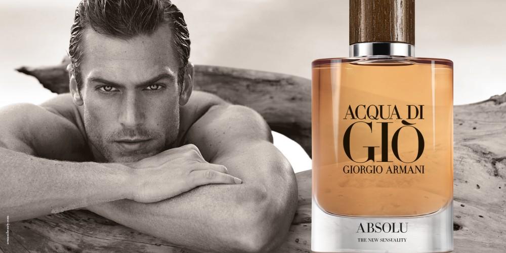 Giorgio Armani acqua di glo absolu ad campaign - Giorgio Armani 男香 水与木最完美的结合