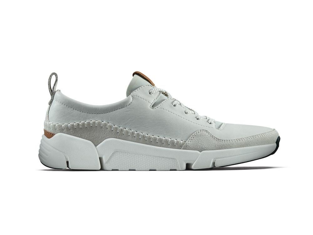 clarks spring summer trigenic shoes collection triactive run white leather  - Clarks 春夏之履,闲适自得