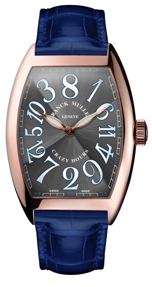 franck muller crazy hours grey dial blue strap  - 风格不同的表款,迎合你日常的搭配所需!