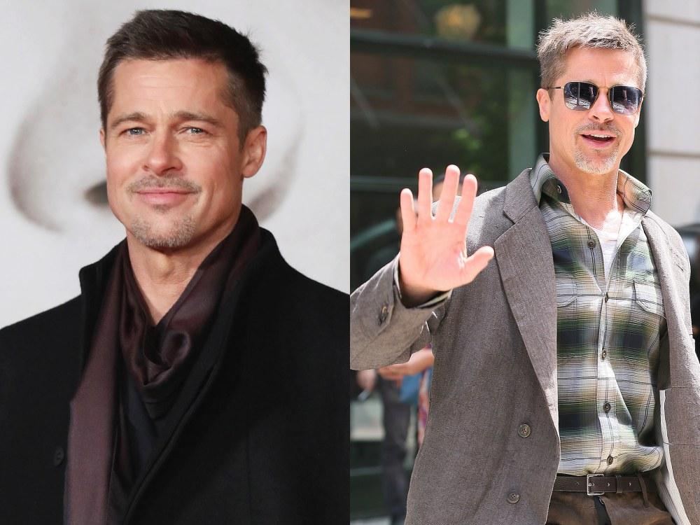 mens celebrity hairstyles brad pitt  - 熟男魅力更迷人:看巨星们的时尚发型