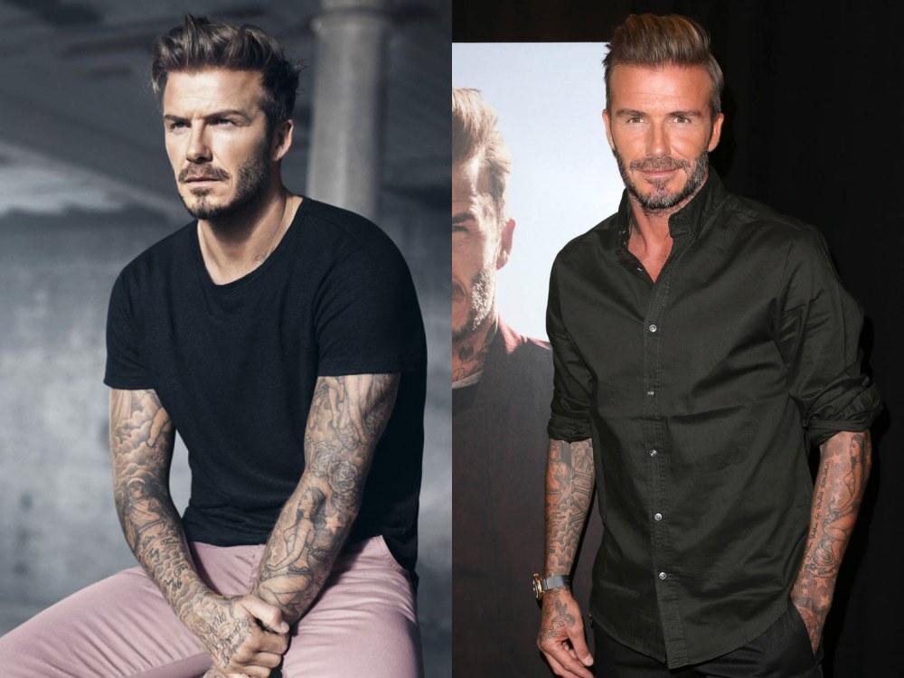 mens celebrity hairstyles david beckham  - 熟男魅力更迷人:看巨星们的时尚发型