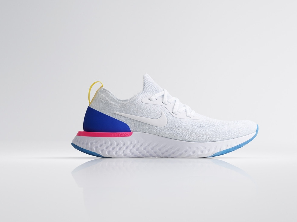 nike epic react flyknit white - 实力创新 Nike Epic React Flyknit 全新跑步体验!