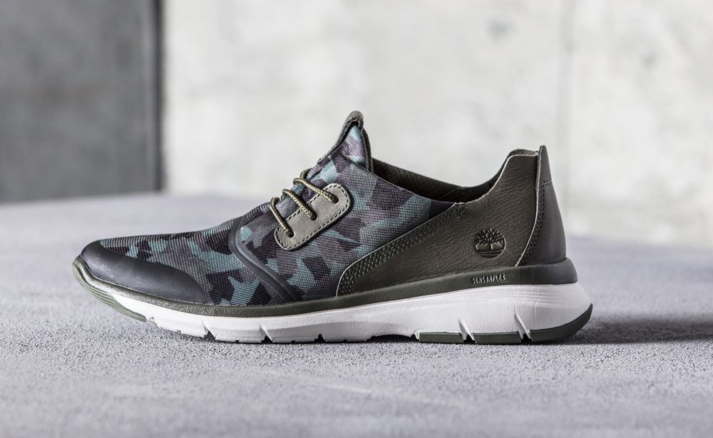 timberland camouflage altimeter fabric and leather printed oxford men a1nrd shoe side view - Timberland 迷彩系列 探险城市!