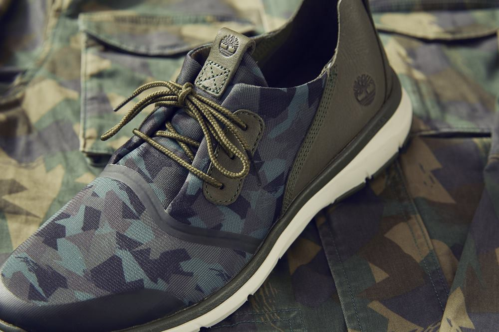 timberland camouflage altimeter fabric and leather printed oxford men a1nrd shoe - Timberland 迷彩系列 探险城市!