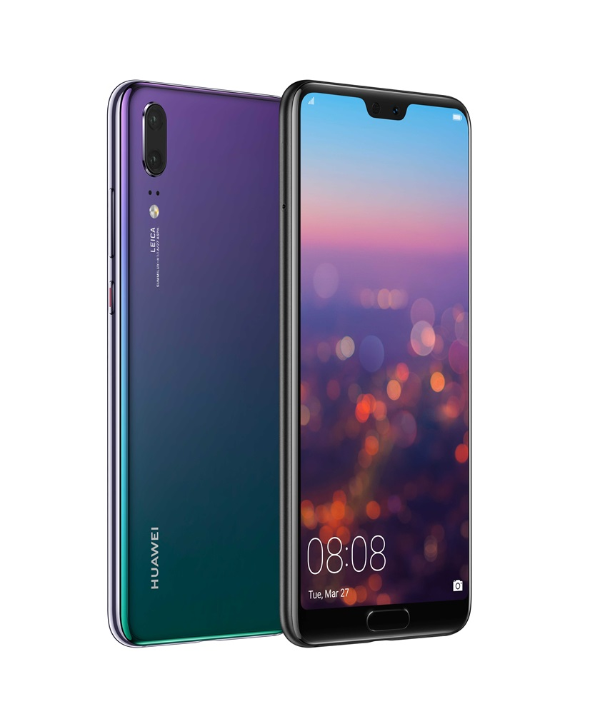 HUAWEI P20 Twilight Front and Back - HUAWEI P20/P20 Pro 时尚与摄影美学的科技结合