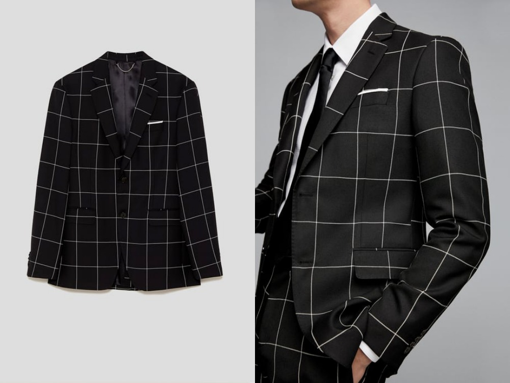 how to style a check blazer suit look 10 - 要跳脱刻板形象,为何不选择格纹西装?