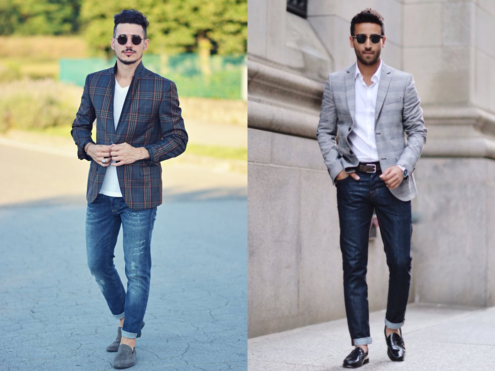 how to style a check blazer suit look street style 3 - 要跳脱刻板形象,为何不选择格纹西装?