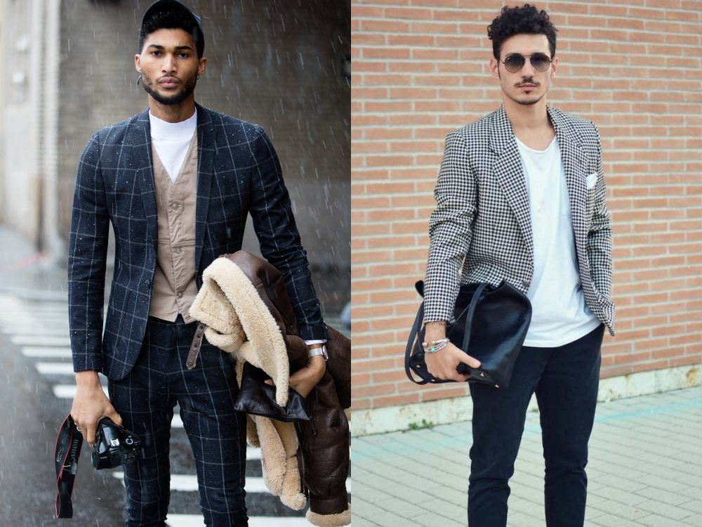 how to style a check blazer suit look street style 4 - 要跳脱刻板形象,为何不选择格纹西装?