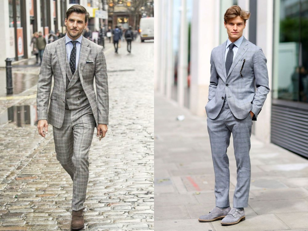 how to style a check blazer suit look street style 7 - 要跳脱刻板形象,为何不选择格纹西装?