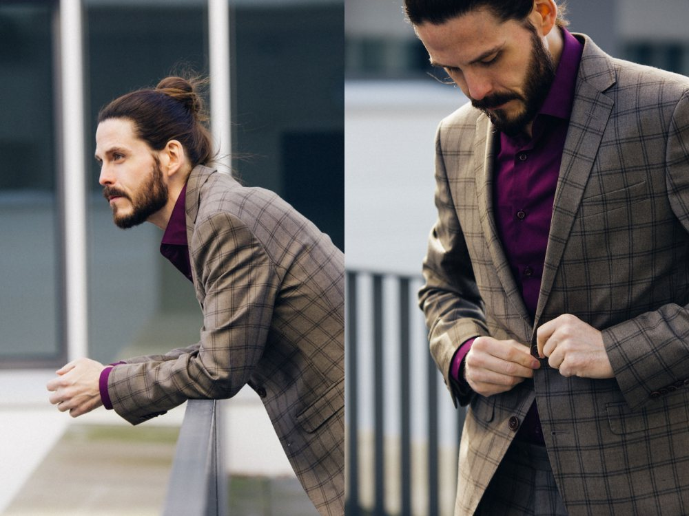 how to style a check blazer suit look street style 8 - 要跳脱刻板形象,为何不选择格纹西装?