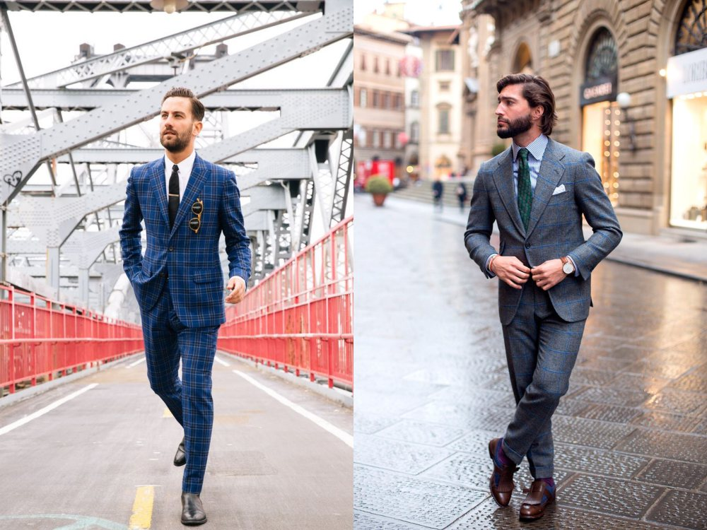 how to style a check blazer suit look street style 9 - 要跳脱刻板形象,为何不选择格纹西装?