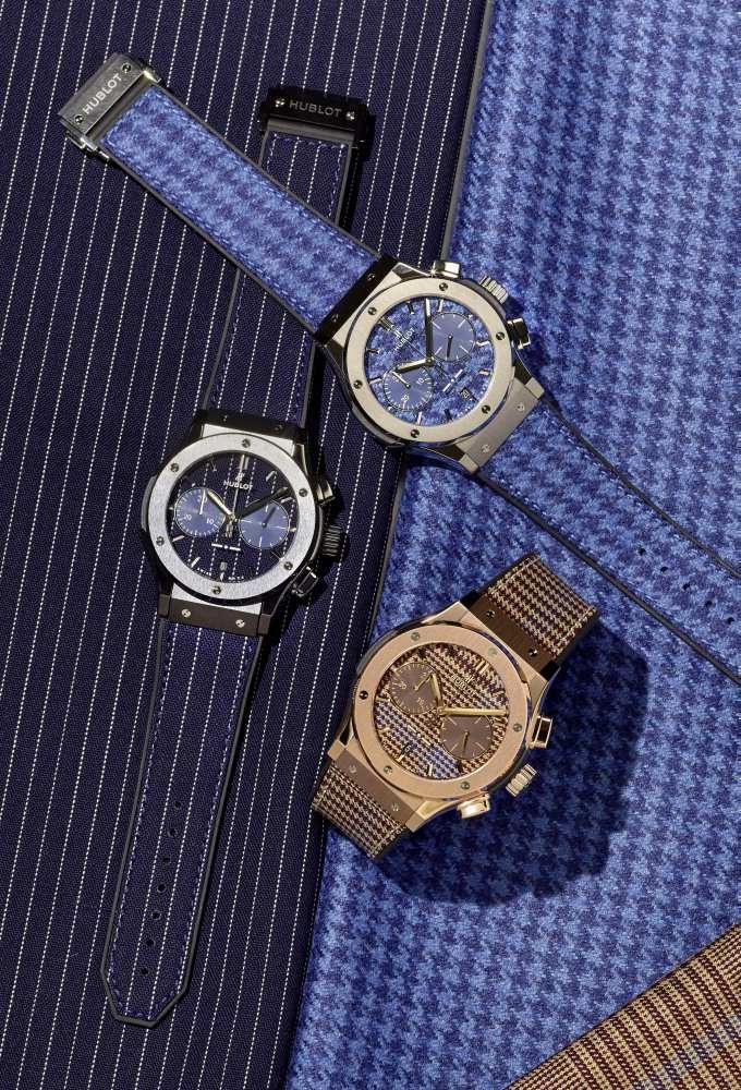 hublot classic fusion chronograph italia independent 3 - Hublot 重温经典面料,展现奢雅美感!