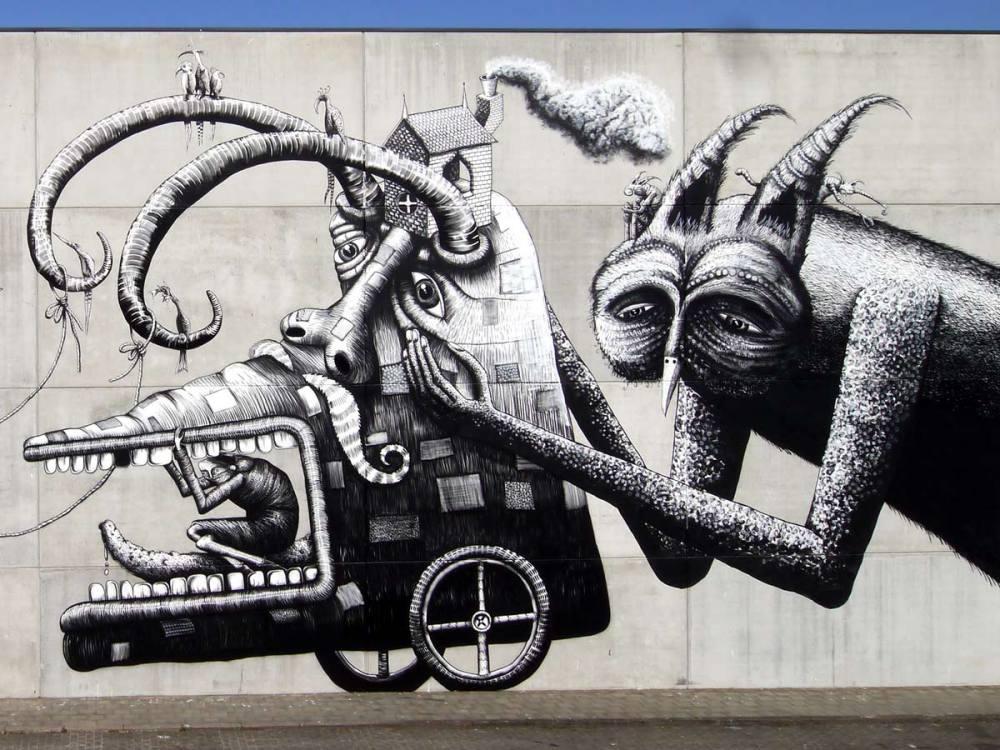 nuart aberdeen street art festival 2018 phlegm  - Nuart Aberdeen 年度街头艺术盛事将展开!