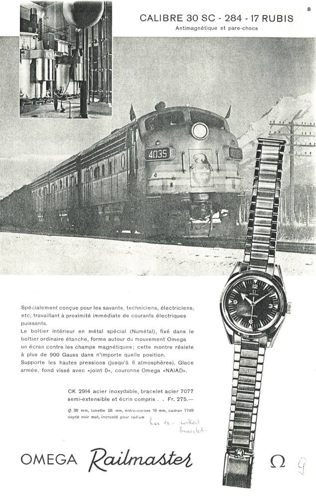 omega railmaster watch advertisement from 1959  - Omega Railmaster 超卓防磁性能升级15倍!