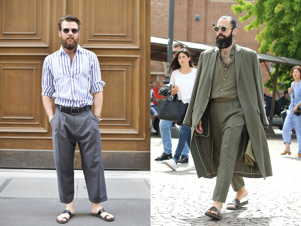 sandals fashion trend men street style 2 - 22双春夏凉鞋,穿出随性的型态!