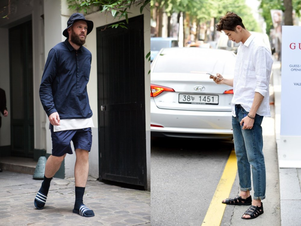 sandals fashion trend men street style 3 - 22双春夏凉鞋,穿出随性的型态!